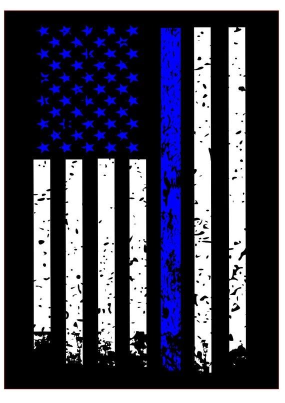 Blue Line Distressed Flag Svg File Quote Cut File Silhouette