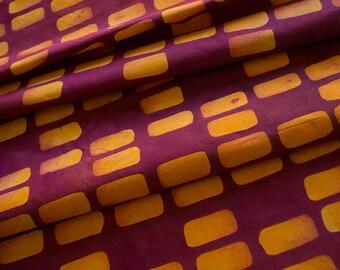 Forma:Sides main teint et à motifs de tissu de coton Orange et framboise