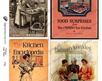 Vintage Cook Book Collage Sheets, Digital Download