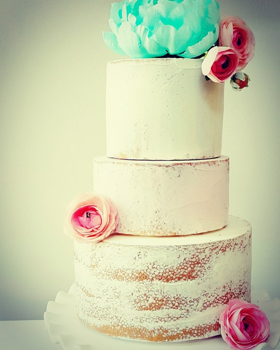 Fake Naked Cake with Three Tiers. Marie Antoinette Shabby Chic