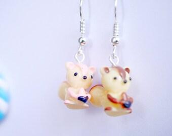 cute squirrel earrings