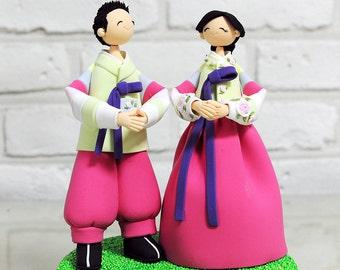 Custom Cake Topper -Korean Traditional Clothes Hanbok-