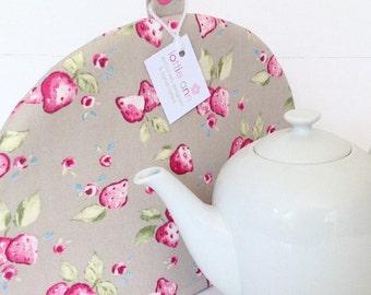 Tea Cosy, Strawberries Tea Cosy, Time for Tea, Kitchen Accessory, Gift, Strawberries