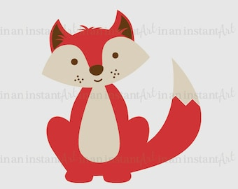 Forest Animal Vinyl Wall Decal   Fox Vinyl Wall Decal for a Woodland Nursery, Kid's Room Decor   Easy Application 529