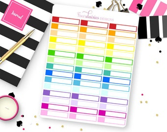 45 Blank Mini Event Label Stickers for Erin Condren Life Planner, Plum Paper or Mambi Happy Planners