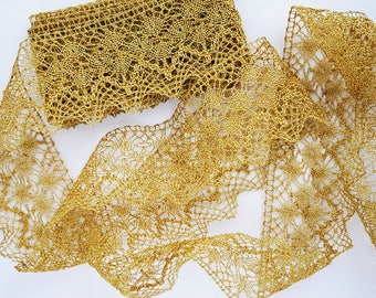 Spanish Gold Metallic Lace