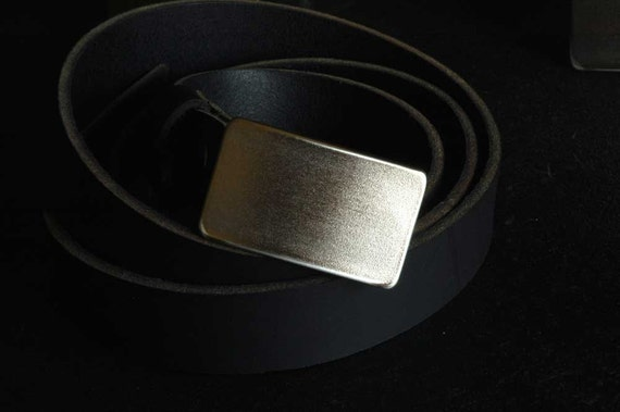 """Kids Belt Buckle Hypoallergenic Raw Hand Forged Stainless Steel Classic Belt Buckles Unisex Signed Original Fits 1.25"""" Belt for Suits/Casual"""