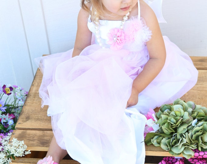 Featured listing image: Headband/Sandals Set ~ Baby Barefoot Sandals ~ Pink Flower Sandals ~ Flower Headband and Sandals ~ Baby Flower Sandals ~ Flower girl sandals