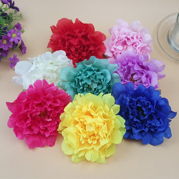 Silk Peony Flowers 12cm Artificial Peonies Heads 100 For Wedding ...