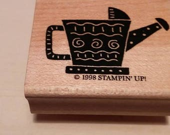 Retired Rubber Stamp   - Watering Can