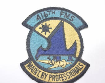 Vintage USAF 416th FMS Maint. by Professionals Rome Griffiss New York patch