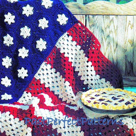 Instant Download Pdf Vintage Crochet Pattern For Stars And Stripes