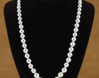 Navajo Indian Jewelry Sterling Silver Native American Bead Necklace