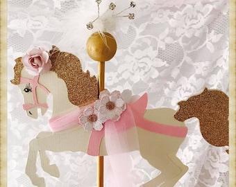 Carousel Horse Cake Topper - Carousel Horse Party Decorations - Carousel Horse Party Decor - Carousel Horse Birthday Party Cake Topper