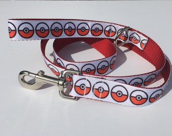 Pokemon Pokeball Dog Leash