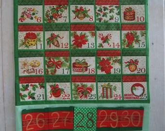 Kids advent calendar / Christmas advent calendar / Fabric advent calendar / Reusable advent calendar / Christmas keepsake / Advent calendar