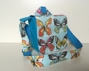children's bag (S) 'Butterflies' turquoise