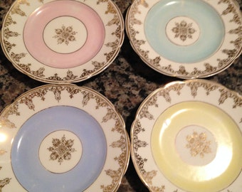 Four KPM Made in Germany China Plates
