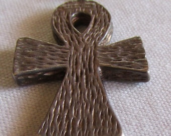 Textured Sterling Silver Ankh Pendant