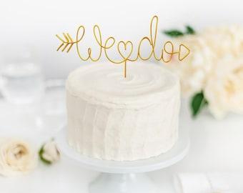 Wedding cake topper   We Do ake topper   Wire cake topper   Custom cake topper   Wedding decor   Woodsy wedding decor   Topper for Wedding
