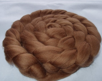 Merino wool roving, roving wool, merino roving, spinning fiber, felting wool, 20 micron, unspun wool, wool hair, brown dolls hair,3.5oz,100g