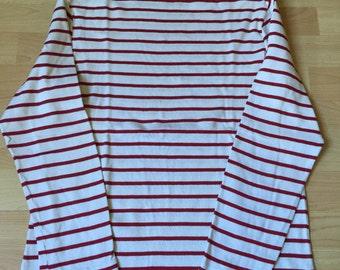 Nautical Sailor Breton Sweater White & Red in Saint James Inspiration
