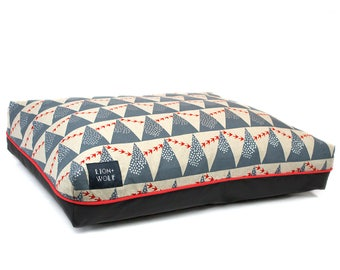 Flight Dog Bed COVER – Limited Edition | Removable Pet Bed Cover – Pillow Insert Not Included | Geometric Dog Beds from Lion + Wolf