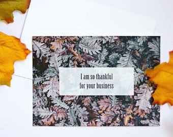 I Am Thankful For Your Business | Small Business Thank You Card | For Clients & Customers| 6 Cards | Made by EntreCards