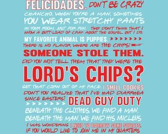nacho libre movie quote poster digital file