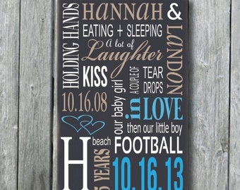 5th Anniversary Gift,Personalized 5th Anniversary Wood Sign,Personalized Wedding Gift,Engagement Gift,Bridal Shower Sign,Custom Wood Sign