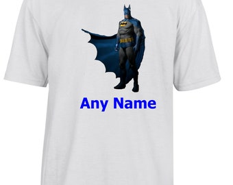 Personalised Batman/Dark Knight Style T Shirt  *Choice of name colours*
