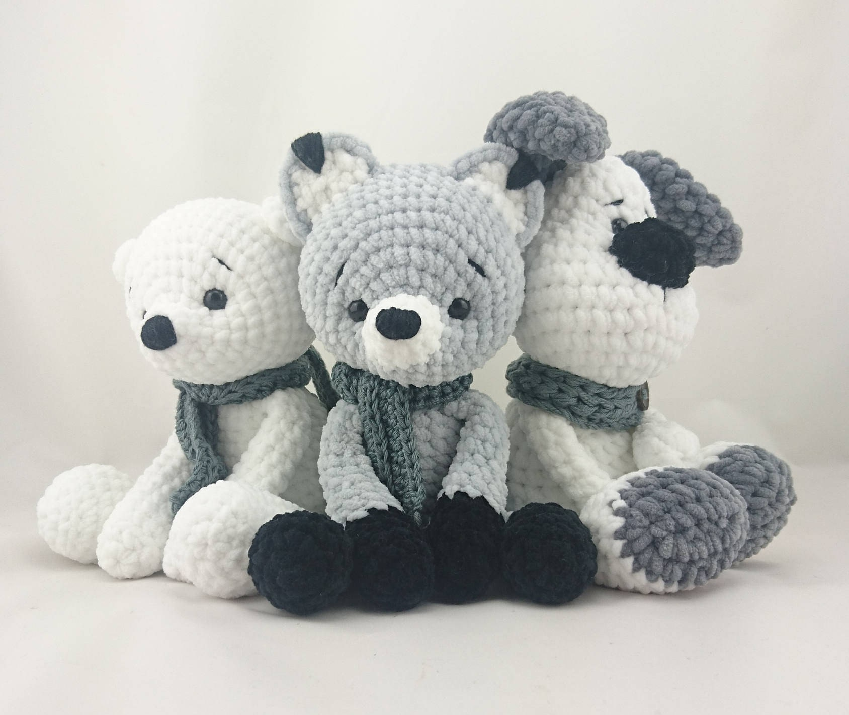 5 x PDF ENGLISH Crochet Pattern: Teddy Bear Micha Fox Foxi