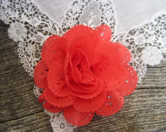 Watermelon Eyelet Flower. 1 pc. JESSAMY Collection