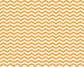 Orange Chevron on White Cardstock Paper