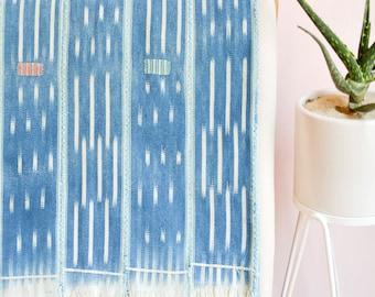 Decorative Throw, Decorative Blanket, Vintage Blanket, African Ikat, African Mudcloth Bedding, Boho Blanket, Wall Hanging, Vintage textile