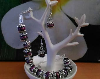 the India set earrings and bracelet in silver