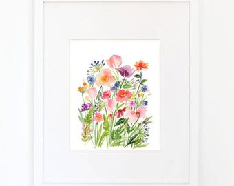 Botanical Gardens - Watercolor Art Print