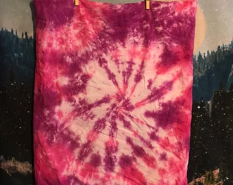 pink and purple tie dye pillowcase