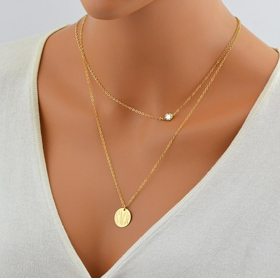 Cz necklace delicate gold necklace tiny diamond necklace like this item aloadofball Image collections