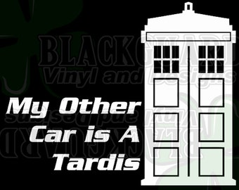 My Other Car is a Tardis Car Decal
