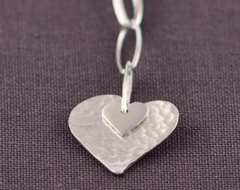Sterling Silver Heart To Heart Chain Necklace