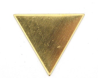 6 Solid Brass Equilateral Triangle Blanks SKU-BB-25