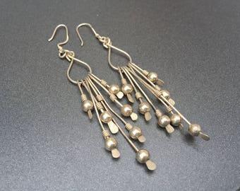 Sterling Silver Drop Earrings with Long Dangles, Sterling Silver Earrings, Long Earrings, Drop Earrings, Dangle Earrings