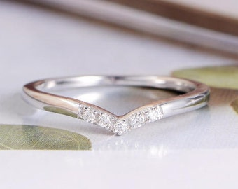 Chevron wedding band Etsy