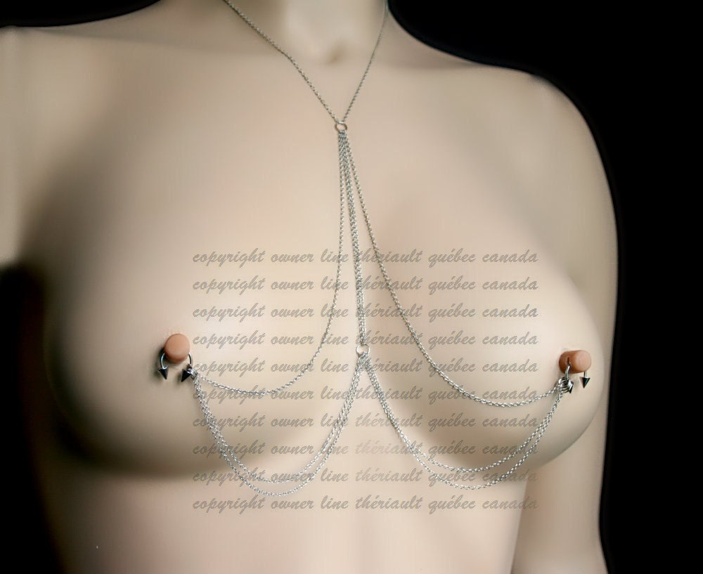 Hoop nipple piercing
