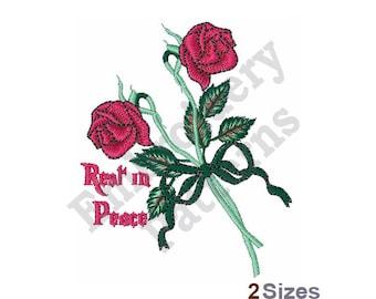 Rest In Peace Rose - Machine Embroidery Design
