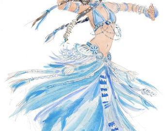 Blue Belly Dancer [A5 size]