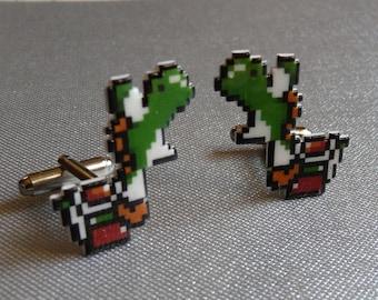 slurp - yoshi cufflinks