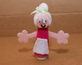 Old Woman Finger Puppet