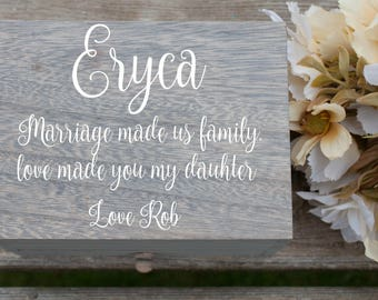 Jewelry Box, Blended Family Gift, Stepdaughter Gift, Step Daughter Gift, Stepdaughter Wedding Gift, Daughter Wedding Gift, Gifts for Girls